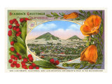 Season's Greetings from California, San Luis Obispo Prints
