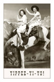 Yippee-Yi-Yo, Women on Bucking Horse Print