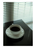 Cup of Coffee and Venetian Blinds Prints