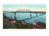 Free Bridge, Little Rock, Arkansas Print