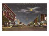 Night, Street, Selma, Alabama Kunstdruck