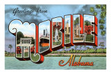 Greetings from Mobile, Alabama Print