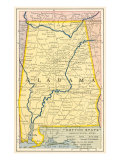 Map of Alabama Prints