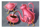 Animated Coffee Pot and Cup Posters