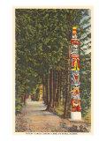 Totem Poles, Sitka, Alaska Print