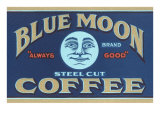 Blue Moon Coffee Label Láminas
