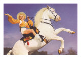 Bare-Legged Horsewoman Art