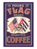 Flag Coffee Label Posters