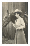 Cowgirl and Horse Posters