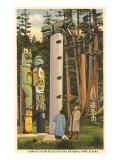 Totem Poles, Sitka, Alaska Prints