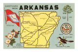 Map of Arkansas, Poster