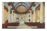 Church Interior of Mobile, Alabama Posters