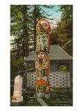 Totem Pole, Ketchikan, Alaska Print