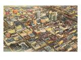 Aerial View of Birmingham, Alabama Poster