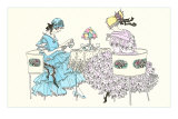 Art Nouveau Drawing of Tea Party Foto