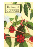 Land of Coffee, Beans Print