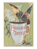 Butterfly Drinking Panama Coffee Lámina giclée prémium