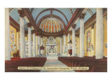 Church Interior of Mobile, Alabama Poster