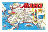 Map of Alaska Print