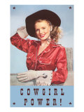 Cowgirl Power, Silk Shirt and Gloves Art