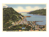 Juneau and Gastineau Channel, Alaska Prints