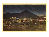 Night View of Jerome and Mingus Mountain, Arizona Posters