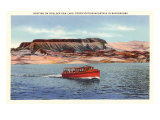 Boat on Boulder Dam, Arizona Posters