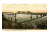 Free Bridge, Little Rock, Arkansas Kunstdruck