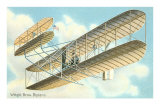 Wright Brothers Bi-plane Poster