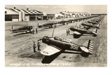 Randolph Field, Texas, with Fighter Planes Prints