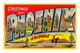 Greetings from Phoenix, Arizona Print