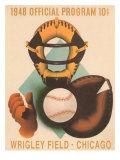 Wrigley Field Poster with Phantom Catcher Prints