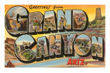 Greetings from Grand Canyon, Arizona Posters