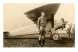 Charles Lindbergh and Plane Posters
