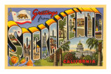 Greetings from Sacramento, California Print