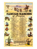List of Famous Arizona Ranches with Brands Prints