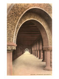 Romanesque Colonnade, Stanford, California Prints