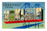 Greetings from Oakland, California Poster