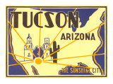 Tucson, Arizona, Poster Style Prints