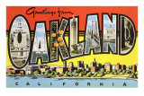 Greetings from Oakland, California Kunstdrucke