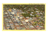 Aerial View of Fresno, California Posters