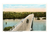 Kern River Bridge, Bakersfield, California Prints