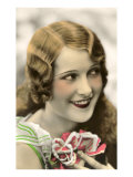 Flapper with Flowers Posters