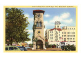Clock Tower, El Tejon Hotel, Bakersfield, California Print