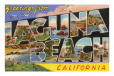 Greetings from Laguna Beach, California Posters