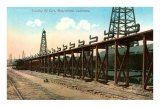 Loading Oil Cars, Bakersfield, California Prints
