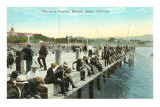 Fisherman's Paradise, Pier at Redondo Beach, California Posters