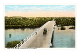Kern River Bridge, Bakersfield, California Poster
