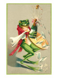 Frog Popping Champagne Cork Posters