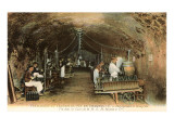 Wine Workers in French Cave Photo